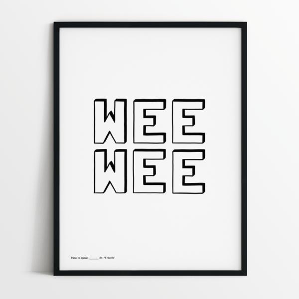 How to speak French print in black frame