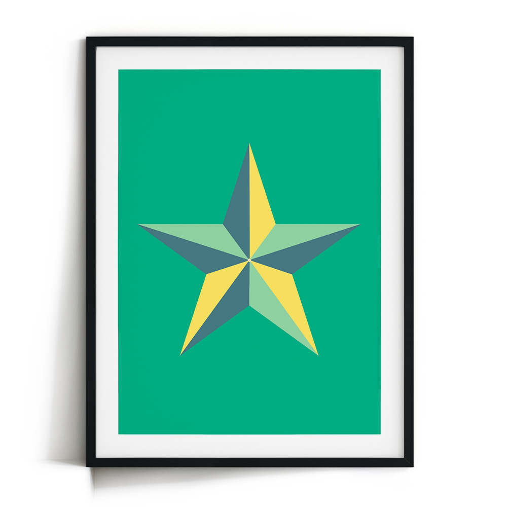 Star Greens Print Frame