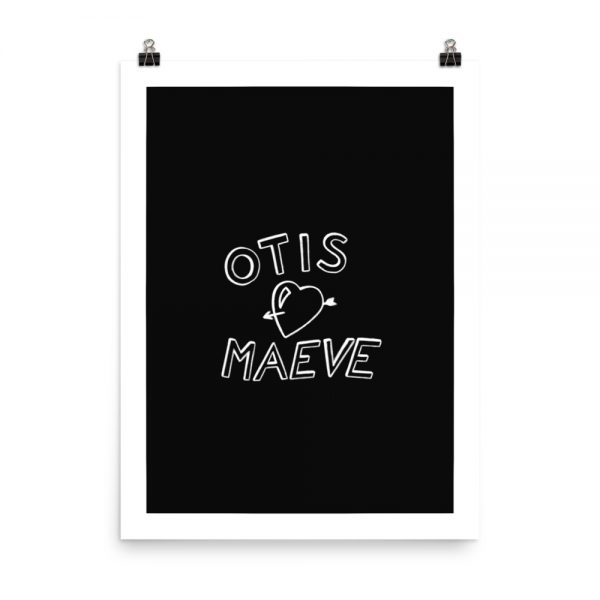 Otis and Maeve print unframed