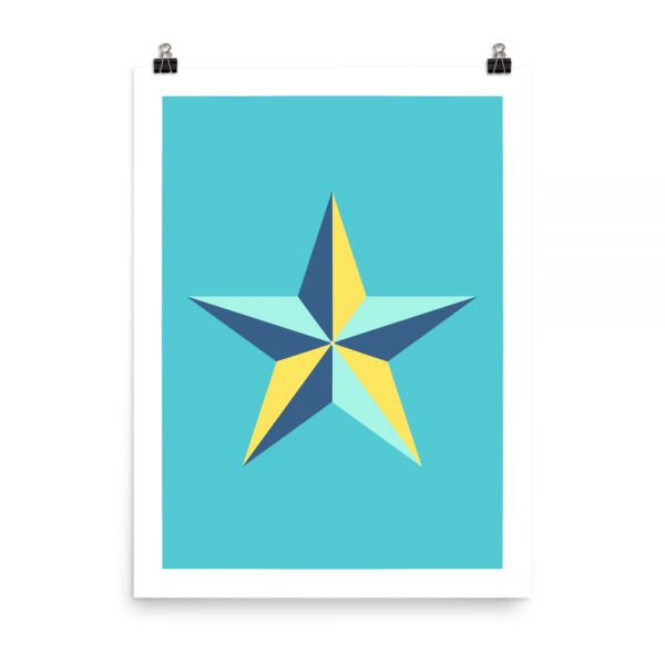 Star blue print unframed