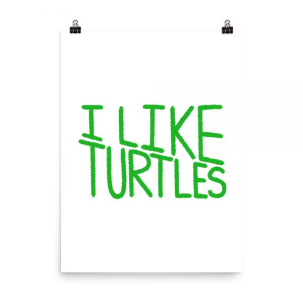 I Like Turtles print unframed