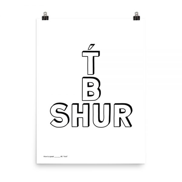 How to speak Irish print unframed