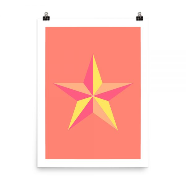 Star coral print unframed