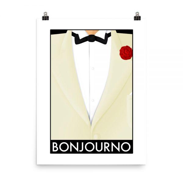 Bonjourno print unframed