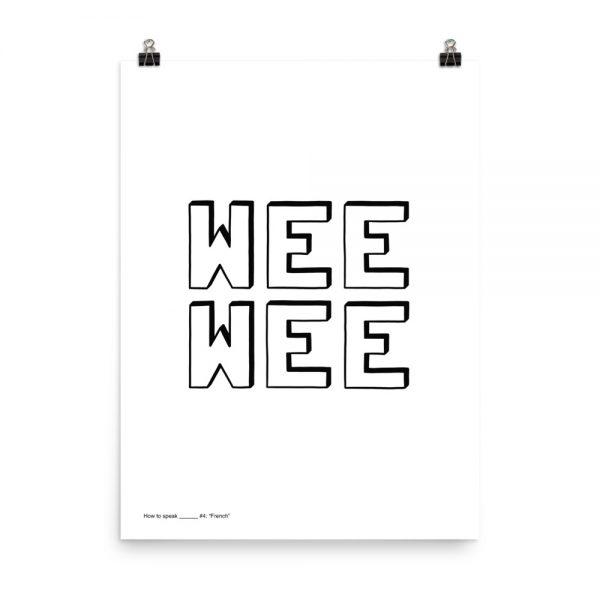 How to speak French print unframed