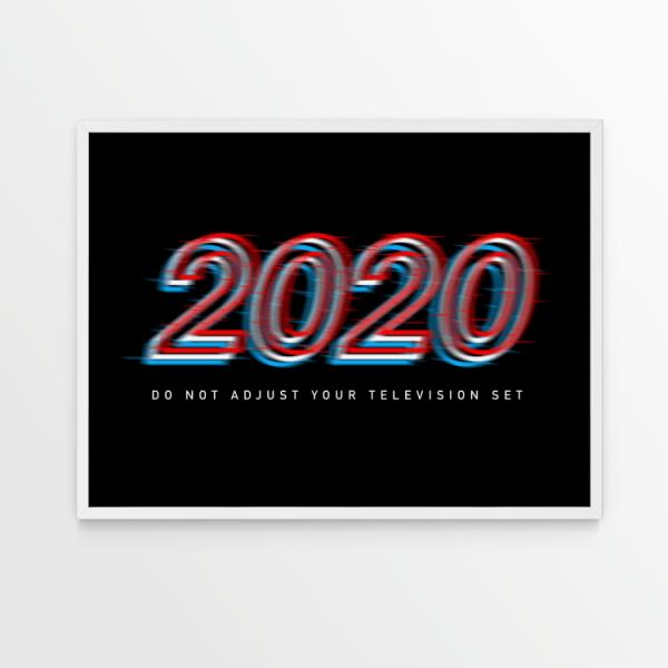 2020 Do Not Adjust black print in white frame