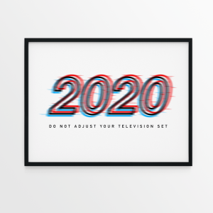 2020 Do Not Adjust white print in black frame