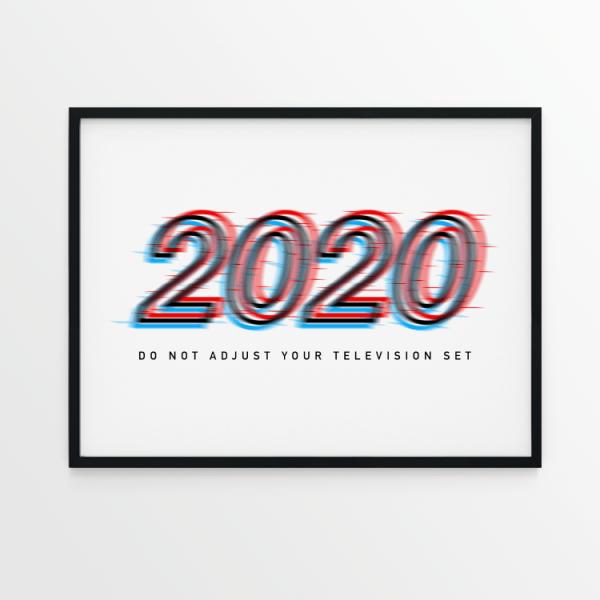 2020 Do Not Adjust white print in black frame