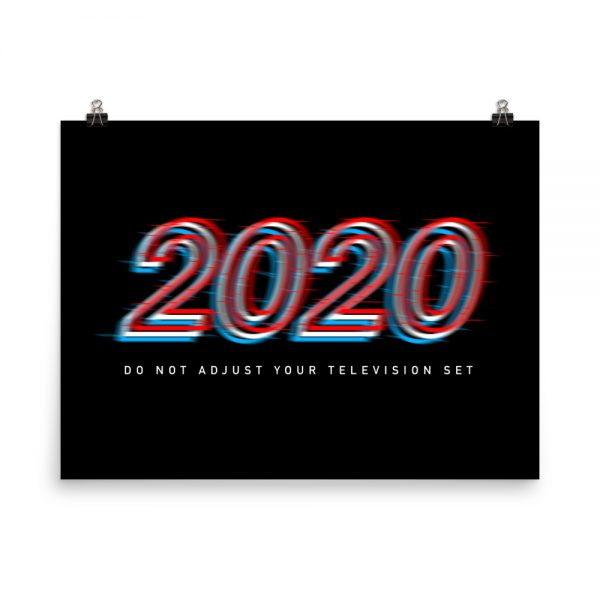 2020 Do Not Adjust unframed print in black